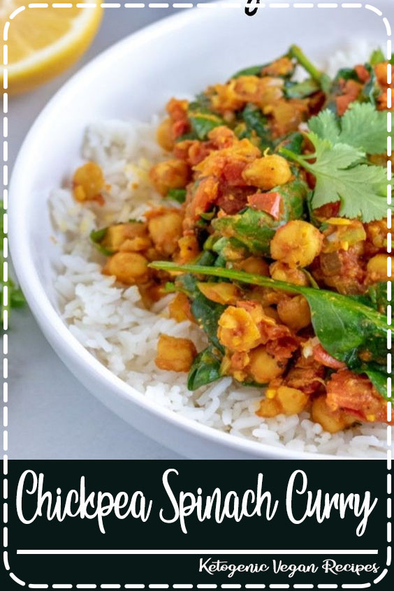 A delicious and warming Chickpea Curry, great for cooler nights and perfect for the whole family. Both vegetarian AND vegan, this curry is quick & easy to make! #vegan #vegetarian #curry #kyleecooks