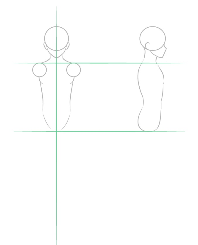 Menggambar struktur tubuh cowok anime