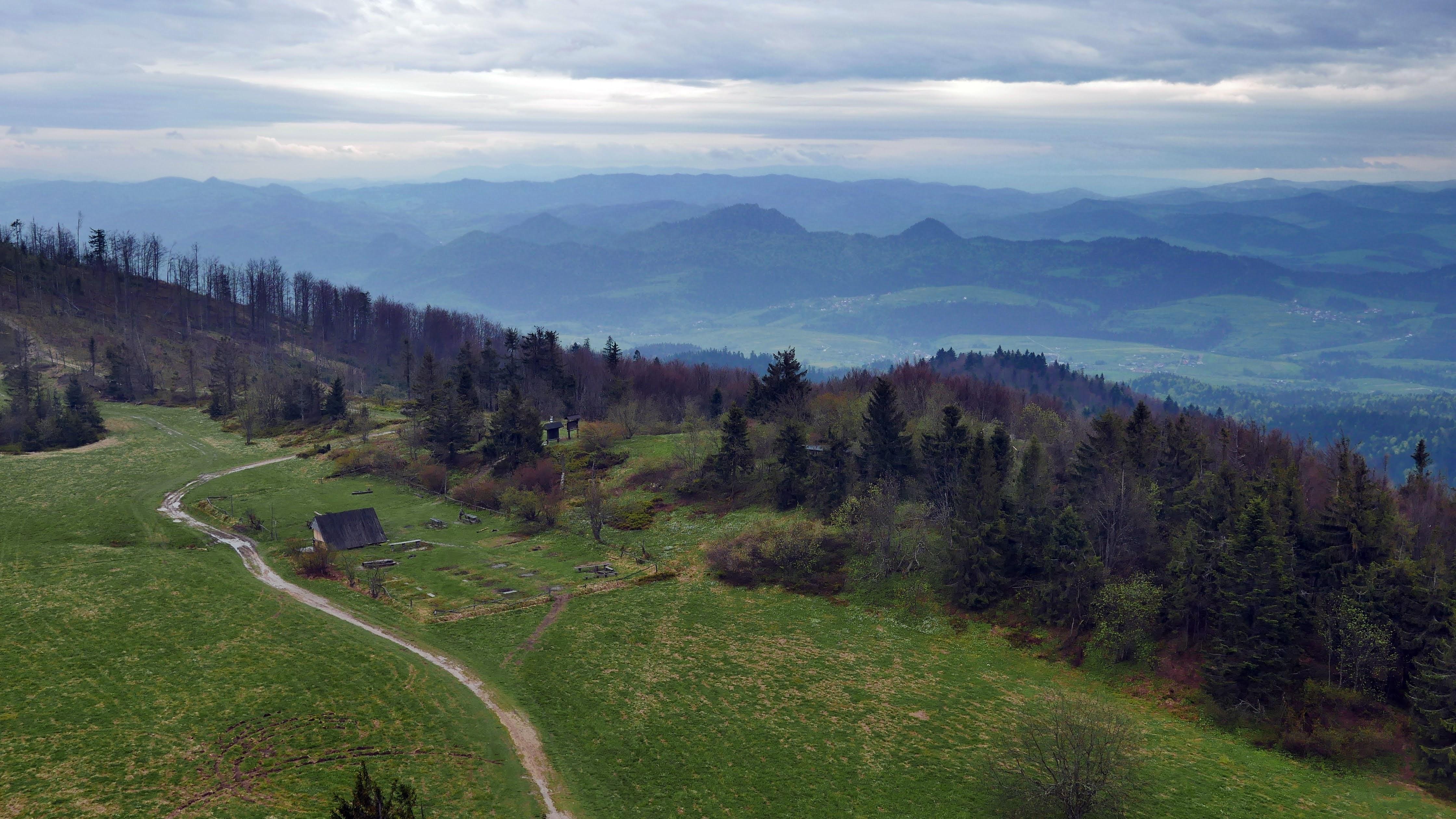Panorama z wieży widokowej na Lubaniu