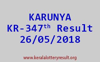 KARUNYA Lottery KR 347 Result 26-05-2018