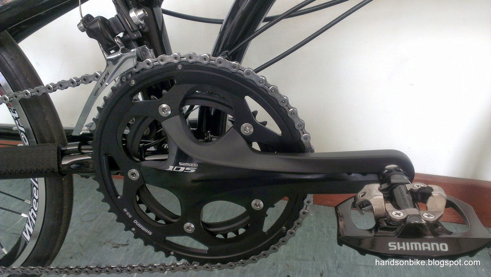 Hands On Bike How To Build An Affordable High Performance Fd Shimano Triagra 4700 Braze No Nonsense 105 Crankset With And Pd A530 Spd Platform Pedals
