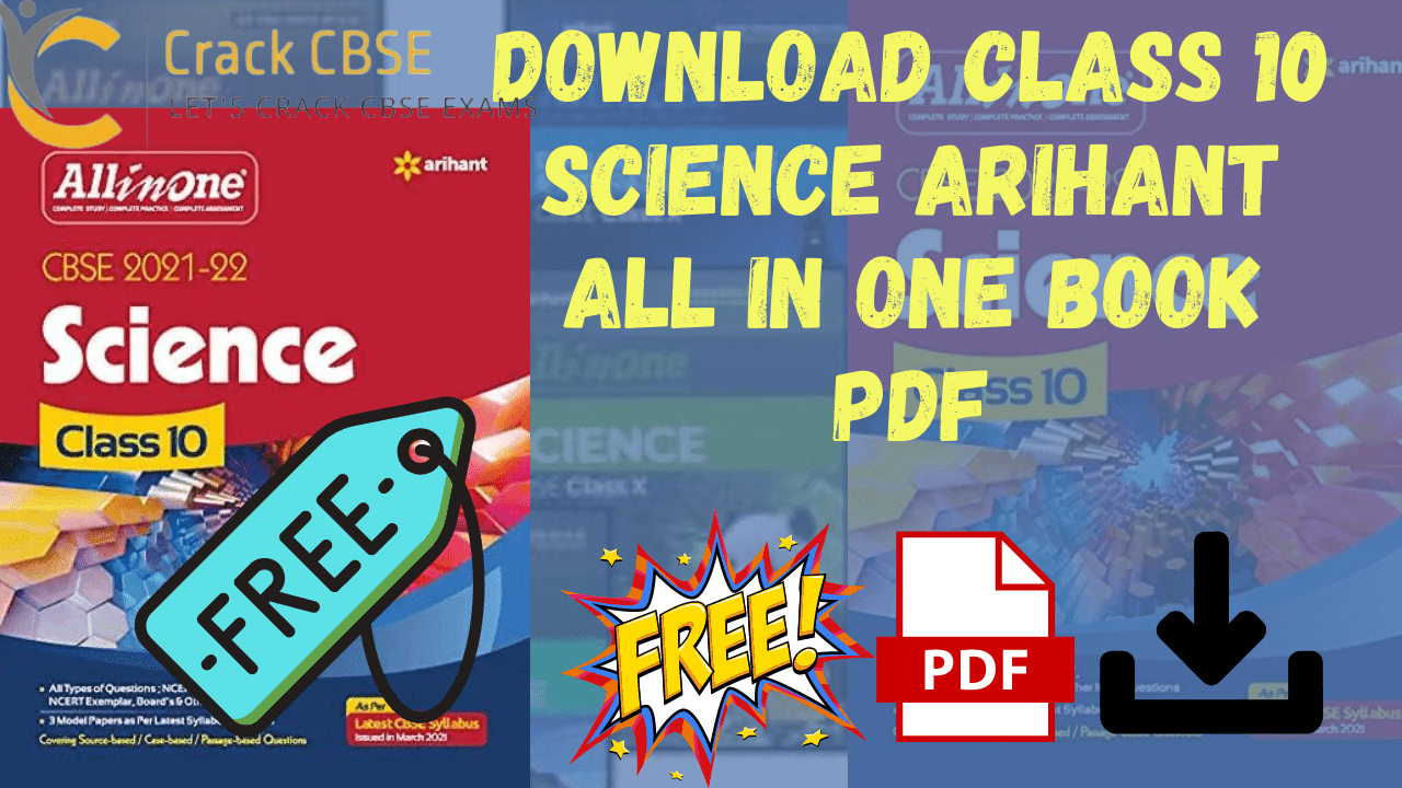 Download class 10th Arihant all in one science book pdf