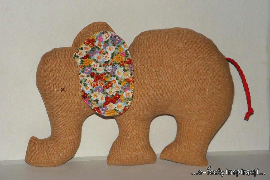 słoń z materiału