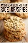 Oatmeal Chocolate-Chip Rice Krispy Cookies - Amazing!