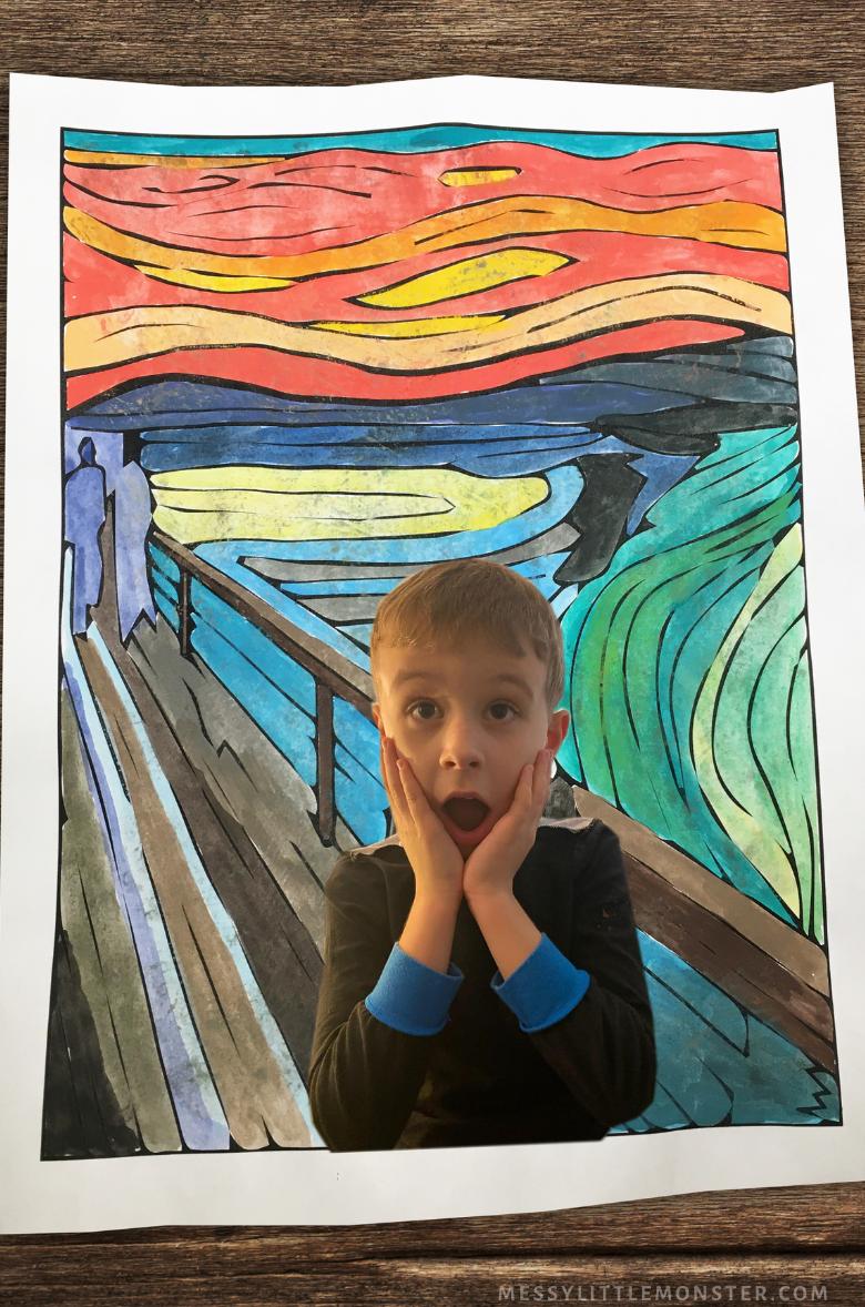 Edvard Munch The Scream Self Portrait for Kids