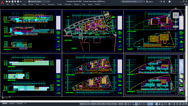 Cultural Center Project [DWG]