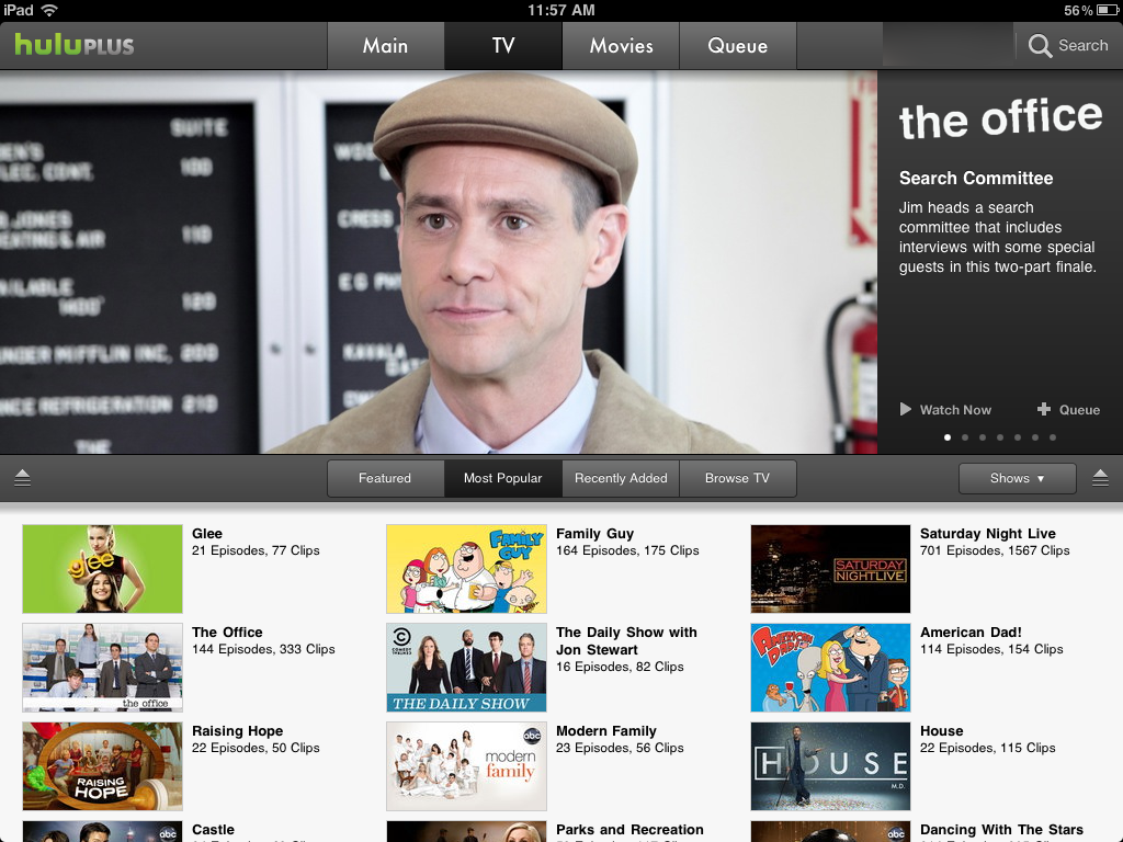 Hulu Plus is a video streamer with a very current selection of shows