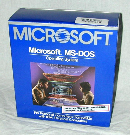 MS-DOS packaging