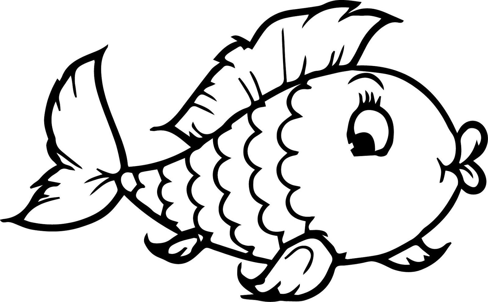 Mewarnai Gambar Ikan Anak Tk Radea