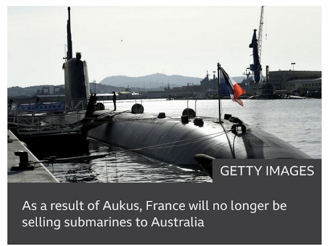 American and French Presidents seek to mend rift on Aukus defense pact through phone call