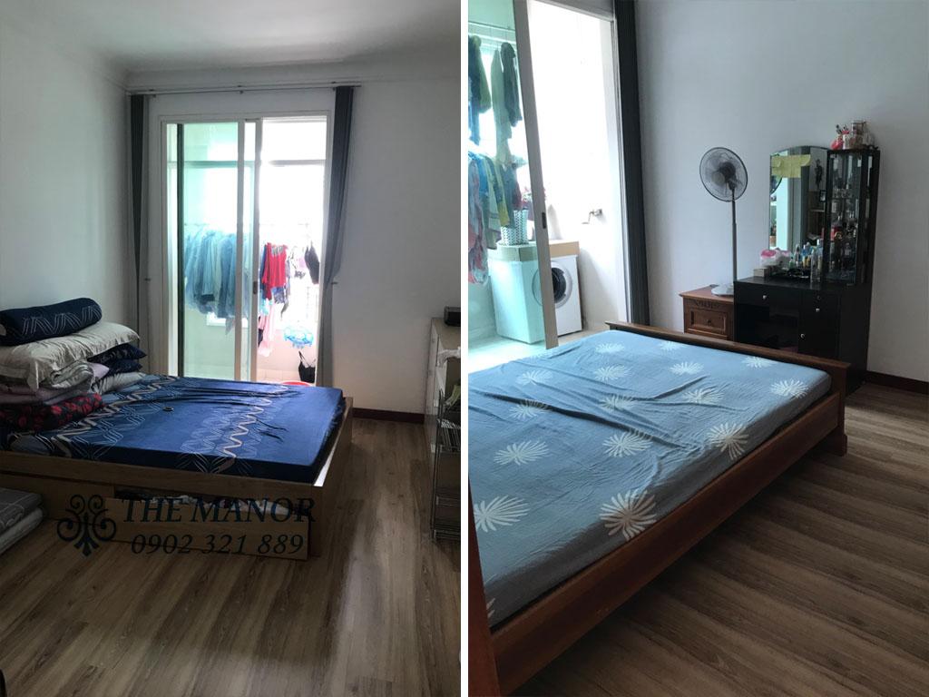3 phòng ngủ cho thuê The Manor căn hộ 163m2 nội thất đẹp - tấm kính lớn ở phòng khách