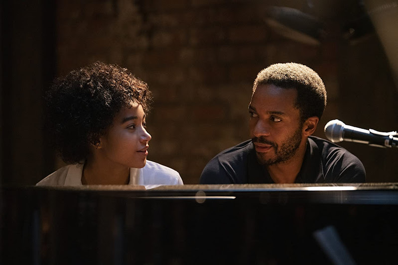 Amandla Stenberg and Andre Holland