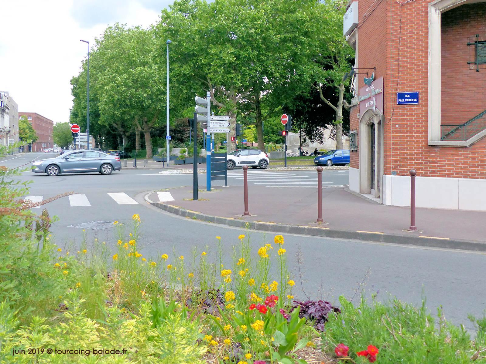 Rue Painlevé et Place Victoire, Tourcoing 2019