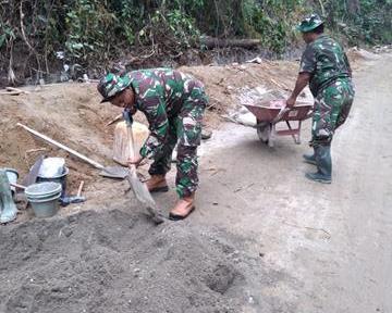 Karya Bakti Diwilayah Binaan, Personel Jajaran Kodim 0207/Simalungun Semangat Untuk Laksanakannya