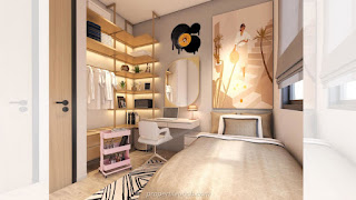 Bedroom Design Rumah Cendana Homes Tipe Lawn Sanctuary (3)