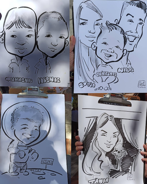 Μια όμορφη ξεχωριστή διπλή βάπτιση με πρωτότυπα δώρα για όλους τους  μικρούς και μεγάλους προσκαλεσμένους,- καρικατούρες - μια όμορφη ιδέα! baptism - live event caricature soter skitso.biz