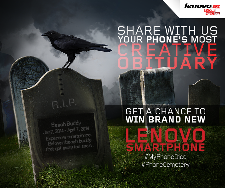 Lenovo Phone Cemetery Digital Contest