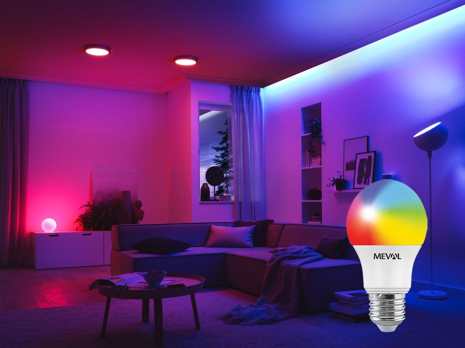 Lampu LED Meval Smart Bulb