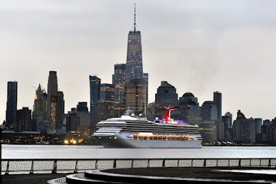 Carnival Cruises' Carnival Sunrise - ex Carnival Triumph Returns to New York after Major Refit in Cadiz Spain and Named in New York by Kelly Arison