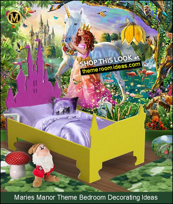 fairytale forest bedroom castle bed headboard castle fairy princess magic woodland forest bedroom decorating