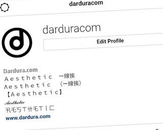 Cara Ganti Nama Instagram dengan Font Aesthetic