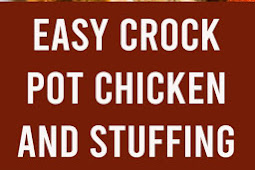 Easy Crock Pot Chicken and Stuffing Recipe #chicken #stuffing #crockpot #slowcooker #comfortfood #dinner