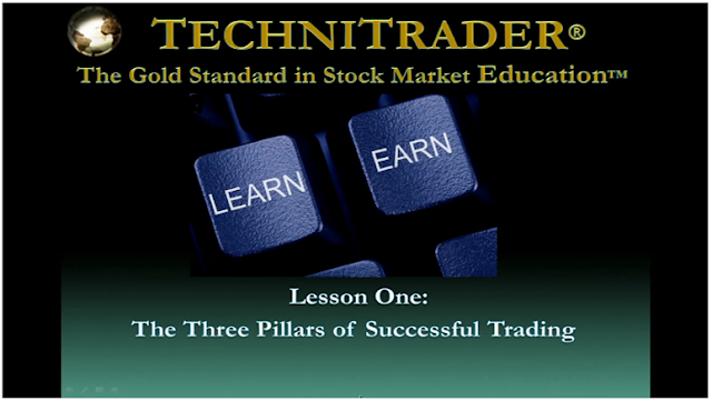 screen shot of lesson one - technitrader