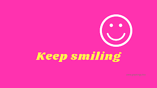 Keep smiling Desktop Wallpaper images with pink color background