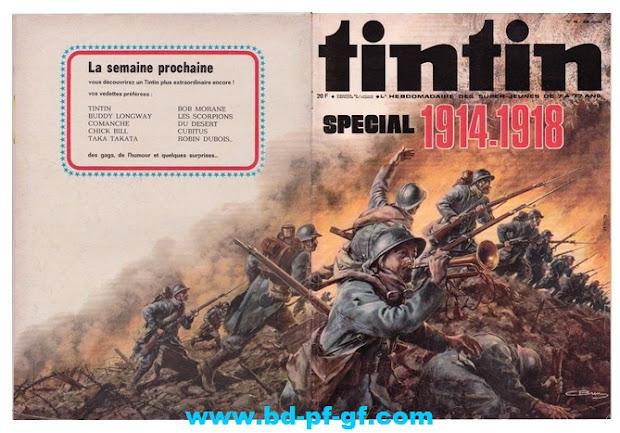 Tintin numéro 46, 1975, Spécial 1914-1918