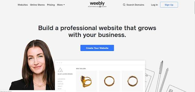 Weebly Penyedia website gratis terbaik