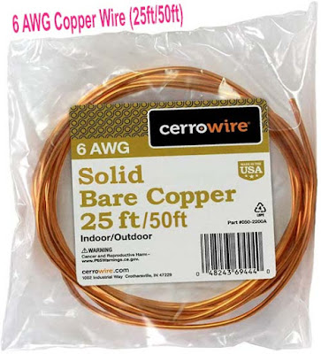 Cerrowire 6 AWG Copper Wire (25ft/50ft)
