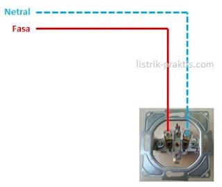 cara pasang stop kontak 2 kabel