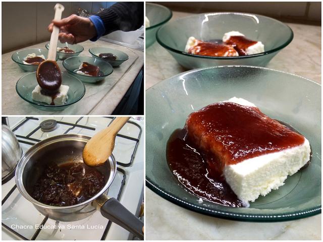 Helado con salsa de Arazá - Chacra Educativa Santa Lucía