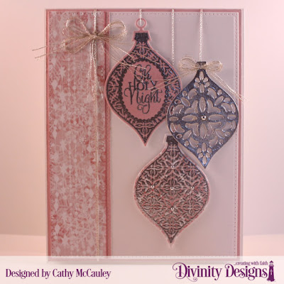 Stamp Elegant Embellishments  Paper Collection: Christmas Collection 2018  Custom Dies: Pierced Rectangles, Elegant Embellishments