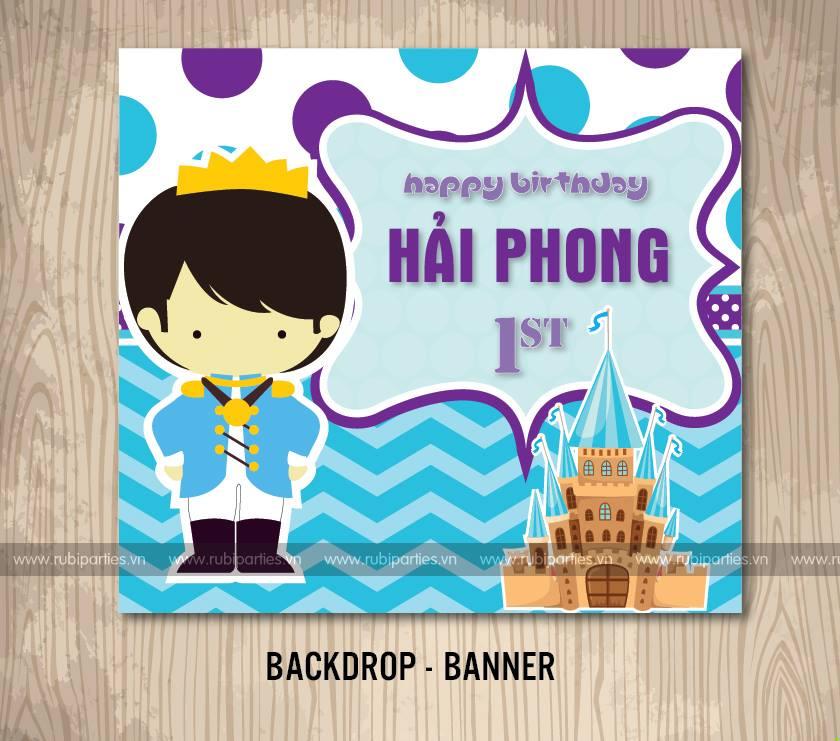 Backdrop-Banner sinh nhat theo chu de Hoang Tu