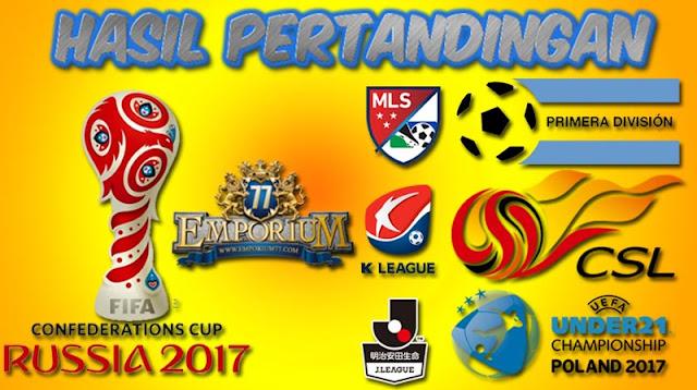 Hasil Pertandingan Sepakbola Tanggal 19-20 November 2017