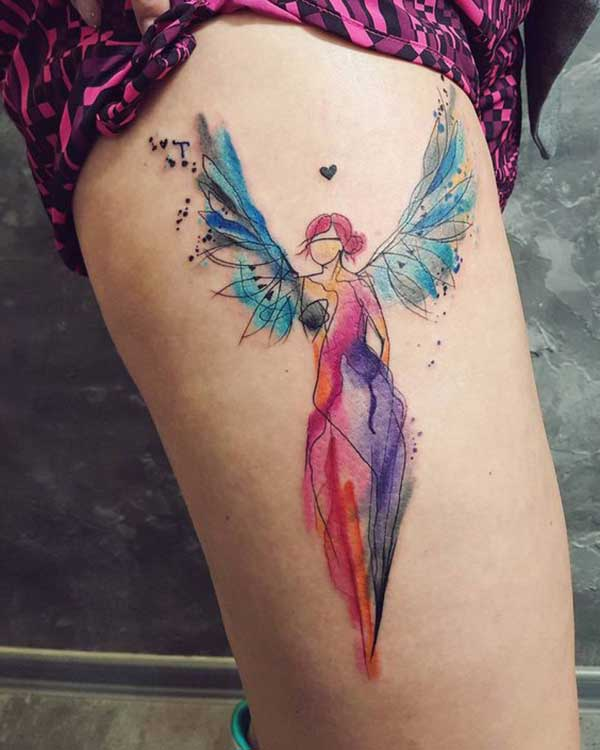 watercolor fairy angel tattoo design tumblr
