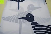Vogel: Norcho Anti-Schimmel Duschvorhang Wasserdicht Waschbar mit 12 Duschvorhangringe 200x200cm Blau Vögel