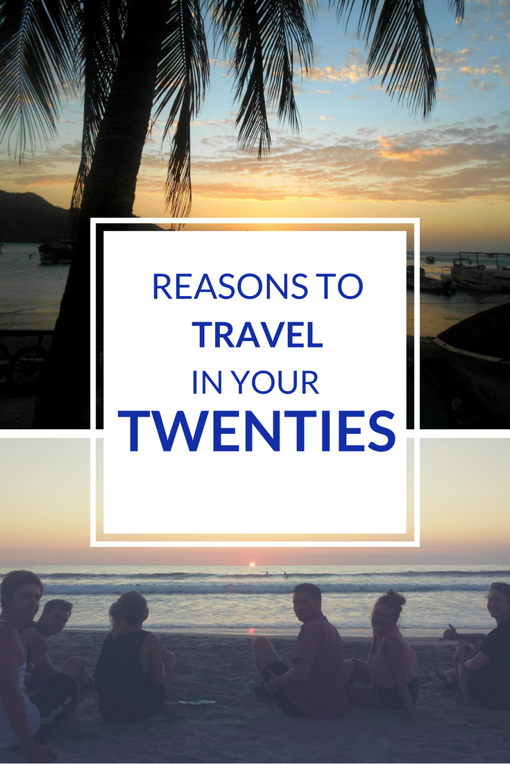 Reasons to travel in your twenties pin