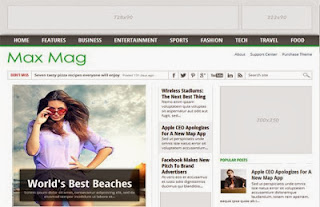 Maxmag Best Premium Blogger Template