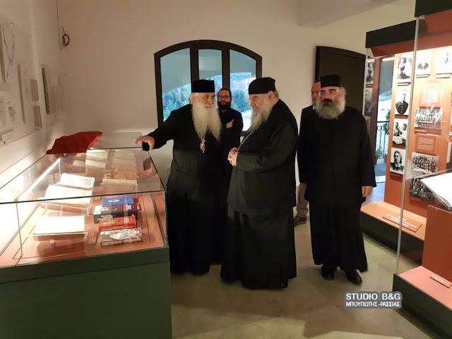 Επίσκεψη του Μητροπολίτη Λεμεσού στον Άγιο Λουκά Ναυπλίου