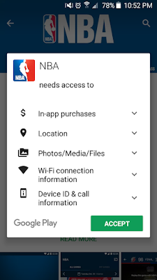 NBA League Pass-Android Privacy