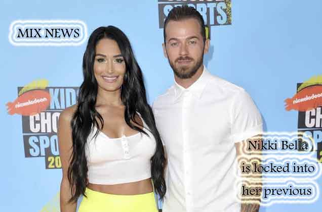 Nikki Bella,locked,dance,floor,Stars,Chigvintsev