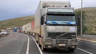 43 شاحنة مساعدات أممية تعبر تركيا باتجاه إدلب