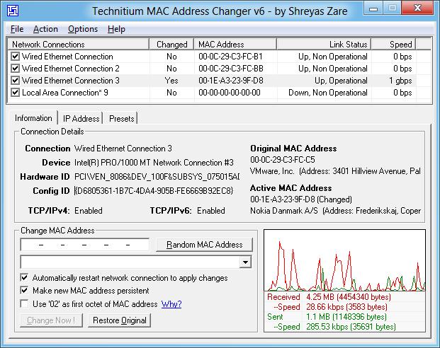 Cara Mengubah MAC Address dengan TMAC