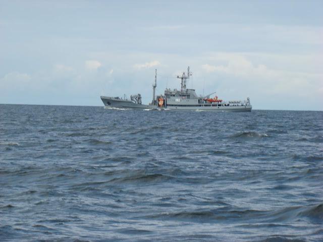 Okręt na Bałtyku
