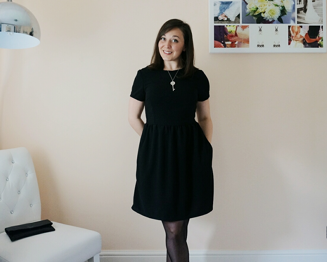 Day Dress by the Avid Seamstress in Black Crepe
