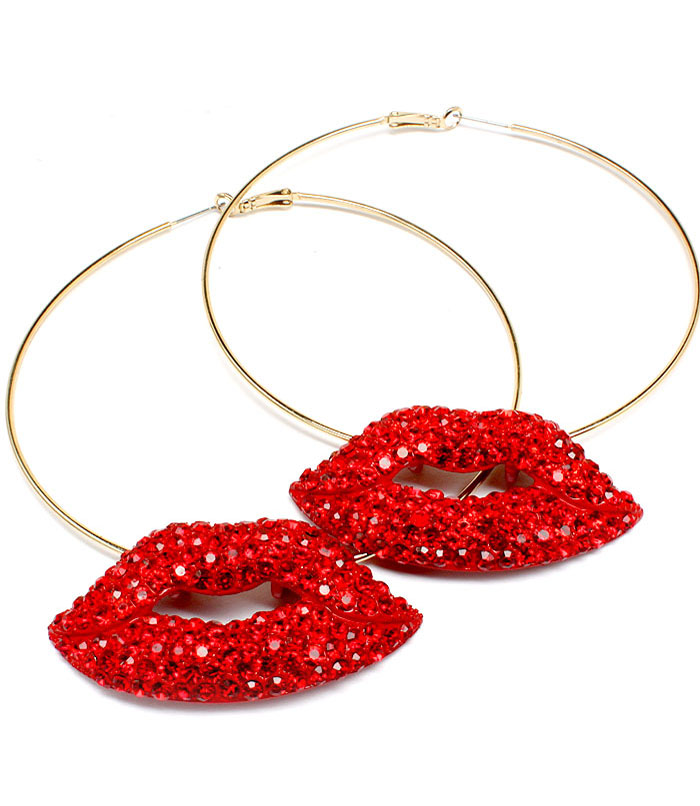 ULAshopBlog: Red Lip Hoop Earrings