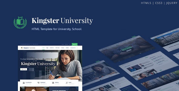Kingster - Education HTML Template Free Download Nulled