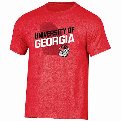 Georgia Bulldogs Red Slant Tshirt